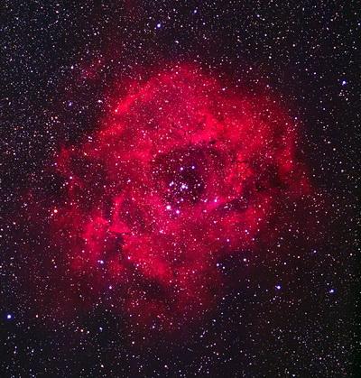 Космическая роза галактики